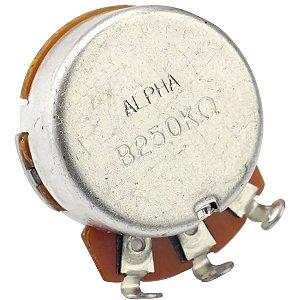 Potenciômetro Base Pequena Eixo Longo B250K Alpha