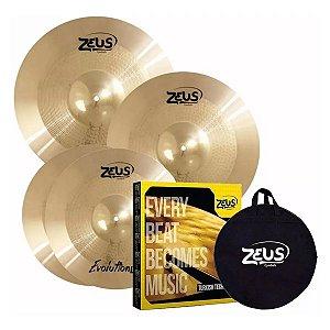 Kit De Pratos Zeus Evolution Pro Set C + Bag
