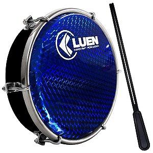 "Tamborim Luen 06"" ABS Preto Pele Holográfica Azul"