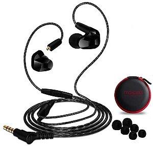 Fone De Ouvido In Ear Dual Driver Moxpad X9 Preto