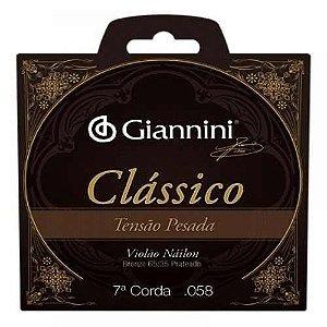 Corda Avulsa Classico Violão Nylon 7a corda Giannini