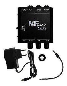 Mini Amplificador Santo Angelo P10 Fone De Ouvido + Fonte