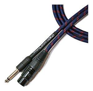 Cabo Para Microfone Santo Angelo Textil P10 / XLR 4,57m