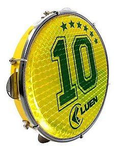 "Pandeiro Luen 10"" Aro ABS Pele Holográfica Camisa 10"