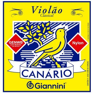 Jogo de Cordas Para Violão Nylon Giannini Canário com Bolinha