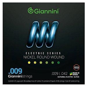 Jogo De Cordas Para Guitarra Nickel Wound Giannini 009