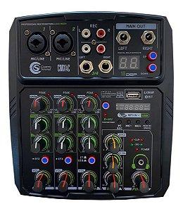 Mesa de Som Analógica 04 Canais Profissional Custom Sound