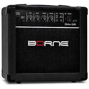 Amplificador Para Guitarra Borne Strike G30 Preto 15w
