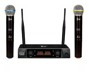 Kit Com 02 Microfones Vocal Sem Fio Dylan UDX-02 MULTI