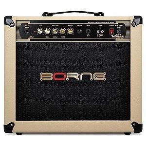 Amplificador Para Guitarra Borne Vorax 1050 Creme 50w