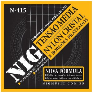 Jogo De Cordas Para Violão Nylon Nig Tensão Média N-415