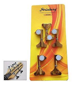 Tarraxas Dourada Para Baixo 5 Cordas Strinberg 3x2