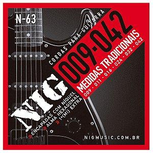 Jogo de Cordas Para Guitarra Elétrica 009 Nig N-63