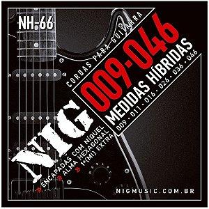 Jogo de Cordas Para Guitarra 09 Hibrida Nig NH-66