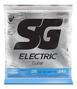Jogo De Cordas Para Guitarra SG 011 Nickel Wound