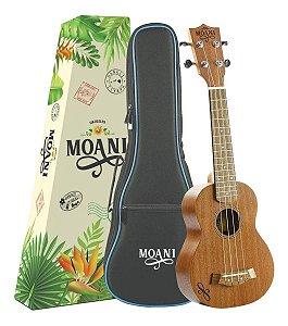 Ukulele Moani Soprano Acustico UKSS02-21 Com Capa