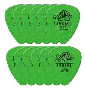 Kit Com 12 Palhetas Dunlop Tortex Verde .88mm