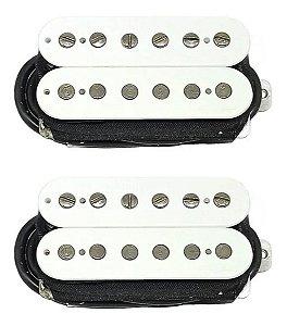 Set Captadores Humbucker Standard Malagoli HB4 Branco