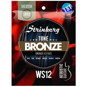 Jogo De Cordas Para Violão Aço Strinberg 012 Ws12