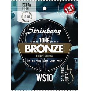 Jogo de Cordas Para Violão Aço Strinberg 010 Ws10