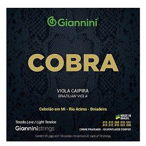 Jogo De Cordas Para Viola Giannini Cobra Tensão Leve