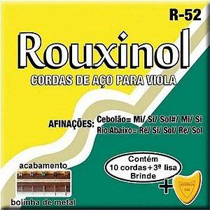 Jogo De Cordas Para Viola Caipira Rouxinol Cebolão Em Mi R52