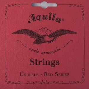 Jogo de Cordas Para Ukulele Low G Aquila Soprano Red Series