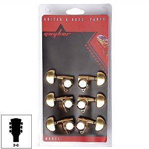 Tarraxas Luxo C/ Trava Dourada de Qualidade Violão Guitarra