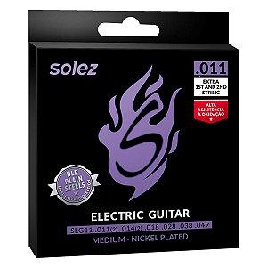 Jogo De Cordas Para Guitarra Solez SLG11 011