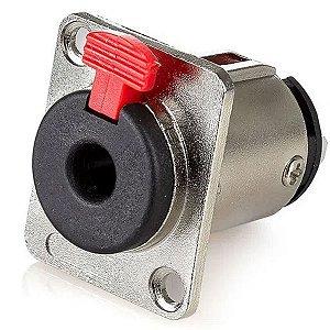 Plug Conector Canon Com Trava Jack P10 Painel Fêmea