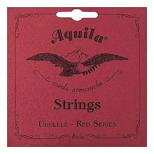 Jogo de Cordas Para Ukulele High G Aquila Concert Red Series