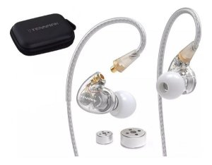 Fone De Ouvido In Ear Dual Driver Tennmak Transparente