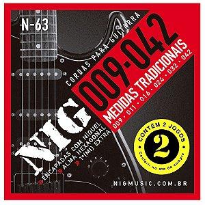 Kit Econômico Com 02 Jogos De Cordas Nig Guitarra Elétrica N-63