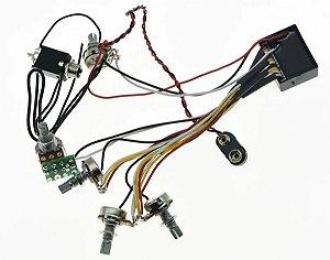 Circuito Ativo Baixo 3 Bandas 5 pot. Custom Sound ccb 9060
