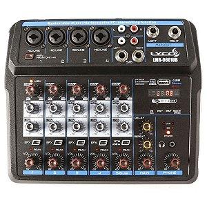 Mesa De Som Mixer Profissional 6 Canais Lyco Bluetooth Usb