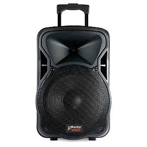 """Caixa De Som Ativa Master Voice MV-315 B 2 Vias 15"""" 3000w PMPO"""