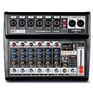 Mesa De Som Mixer Profissional 6 Canais KSR Bluetooth Usb