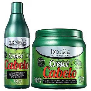 Forever Liss Cresce Cabelo Shampoo com Máscara de 1kg (2 itens)