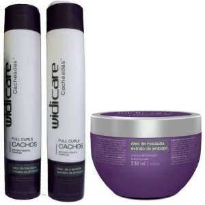 Widi Care Full Curls Cachos Kit Cacheadas com Máscara (3 itens)
