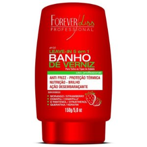 Forever Liss Banho de Verniz Leave In Morango 150g