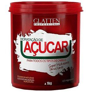 Glatten Açucar Máscara Hidratante Umectante com ação Regeneradora 1kg