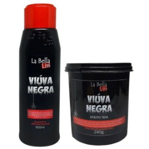 La Bella Liss Viúva Negra Efeito Teia Kit Shampoo 500ml e Máscara 240g