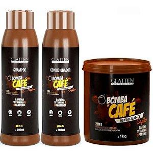 Glatten Bomba de Café Kit com Máscara 1kg (3 itens)
