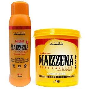 Glatten Maizzena Shampoo 500ml e Máscara 1kg