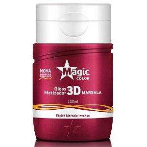 Magic Color Gloss Matizador 3D Marsala Efeito Marsala Intenso 100ml