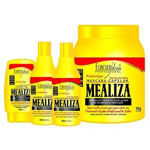 Forever Liss Maizena Capilar MeAliza Kit com Máscara 1kg (4 itens)