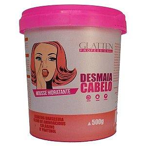 Glatten Desmaia Cabelo Mousse Hidratante 500g