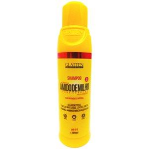 Glatten Amido de Milho para Cabelos Shampoo 300ml