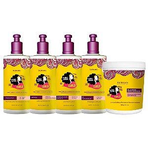 For Beauty Linha Cachos Curls Kit com Máscara 380g (5 itens)
