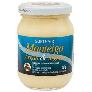Softhair Manteiga de Argan e Arginina 220g